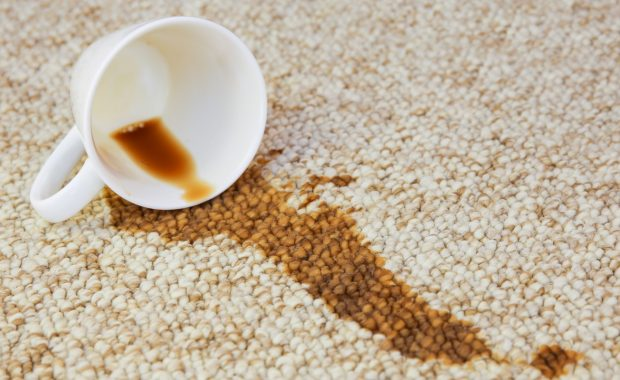 Coffee Spilled on rug and needs a professional carpet cleaning service