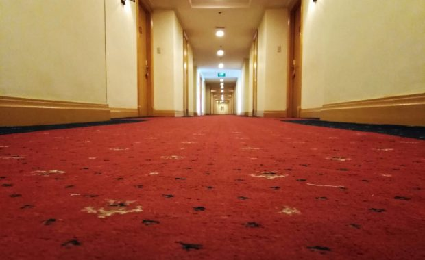 Hotel carpet recently cleaned by Safe-Dry Carpet Cleaning Cypress TX.